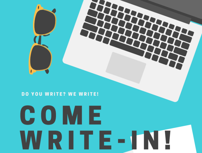 Come Write-In!